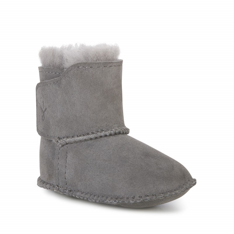 Baby Bootie E009 CHARCOAL